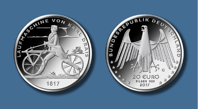German Euro silver coin 2017; photo: BADV