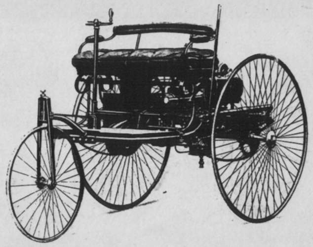 Motorized tricycle by Benz 1886