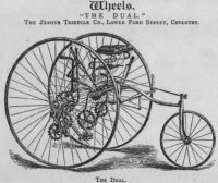 "Bild: Geared tricycle ""The Dual"" 1882"